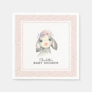 Adorable Baby Lamb Girl Baby Shower