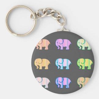 Entzückende nette bunte girly niedliche Elefanten Schlüsselanhänger