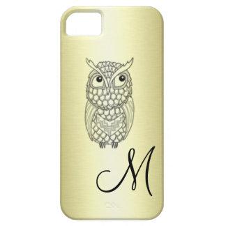 Entzückende nette elegante Eule golden iPhone 5 Cover