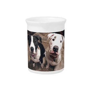 entzückende pitbull Welpenhunde Getränke Pitcher