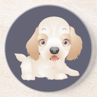 Entzückende Welpen-Hundemehrfache Produkte Sandstein Untersetzer