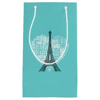 Entzückendes Aqua Eiffel-Turm-Liebe-Paris | Kleine Geschenktüte