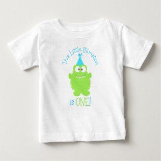 Entzückendes kleines Monster-erster Geburtstags-T Baby T-shirt