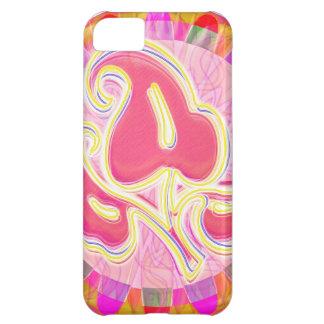 Entzückendes rosa Blatt-Juwel: Blendungs-Grenze iPhone 5C Hülle