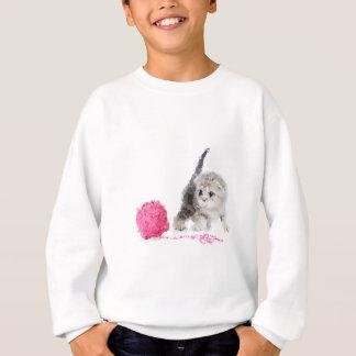 Entzückendes sonderbares Kätzchen niedliches Low Sweatshirt
