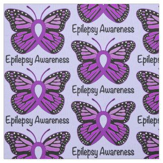 Epilepsie-Bewusstsein mit Schmetterlings-Band Stoff