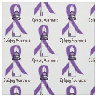 Epilepsie-Bewusstseins-Band mit Leuchtturm der Stoff