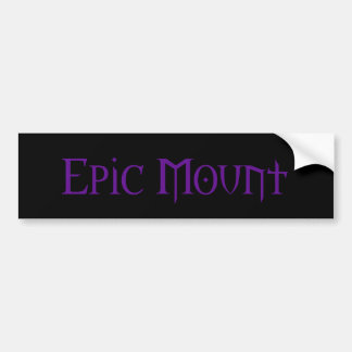 Epischer Berg-Autoaufkleber