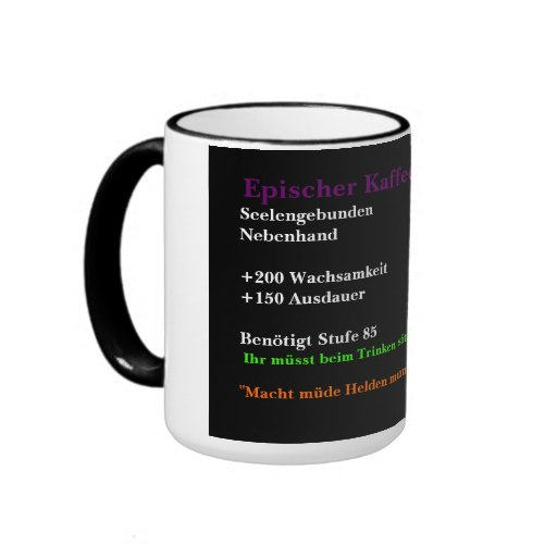 Epischer Kaffeebecher Tee Tasse