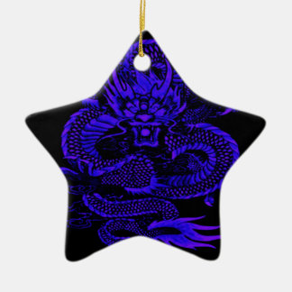 Episches Drache-Blau Keramik Ornament
