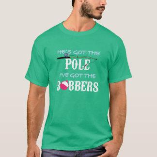 Er hat den Polen, den ich den Bobbers-T - Shirt