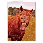 Er Haw Sie ist 50!! Pferdealles- Gute zum Grußkarte