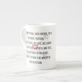 Er ist Ihr Hund - Tasse Porzellan-Tassen