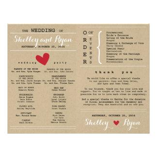 Er und ihr Hochzeits-Programm FAN Flyer