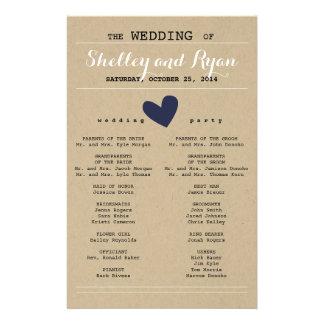 Er und ihr Hochzeits-Programm Flyer