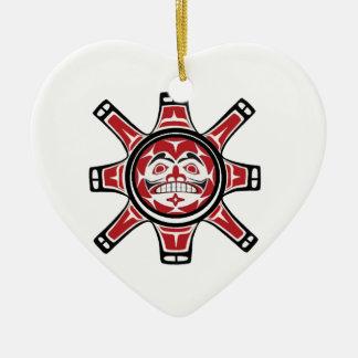 ERBLICKEN SIE DAS LICHT KERAMIK Herz-Ornament