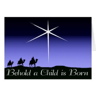Erblicken Sie ein Kind ist geborene Karte