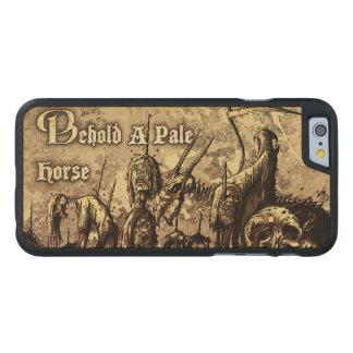 Erblicken Sie einen blasses horse_ hölzernen Carved® iPhone 6 Hülle Ahorn