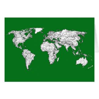 Erdatlasgrün Karte