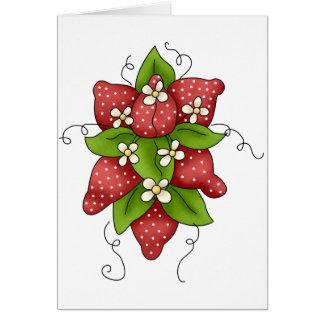 Erdbeer-und Blüten-Gruß-Karten Grußkarte