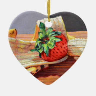 Erdbeerbanana split keramik ornament