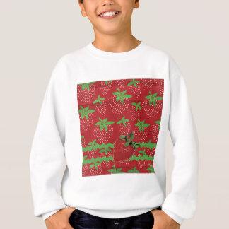 Erdbeere auf grünem Ric Rac, Erdbeeren Sweatshirt