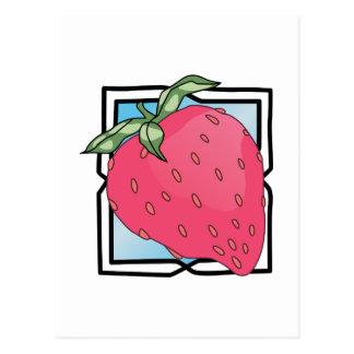 Erdbeere Postkarte