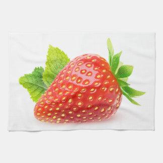 Erdbeere und Minze Küchentuch