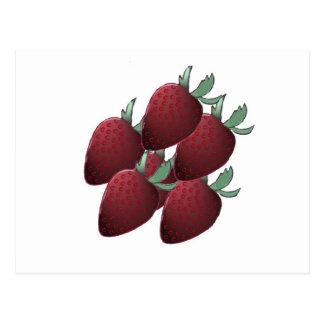Erdbeere verrückt postkarte