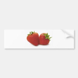 Erdbeeren Autoaufkleber