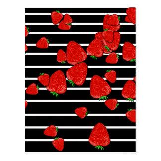 Erdbeeren Postkarte