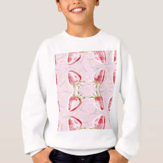 Erdbeerfiesta-Muster Sweatshirt