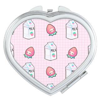 Erdbeermilch-Spiegel Schminkspiegel