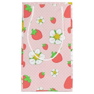 Erdbeerpunkte im Rosa Kleine Geschenktüte