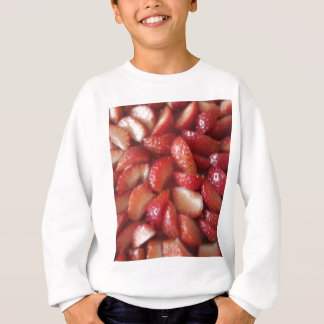 Erdbeerscheiben, gesunder Nahrungsmittelimbiß, Sweatshirt