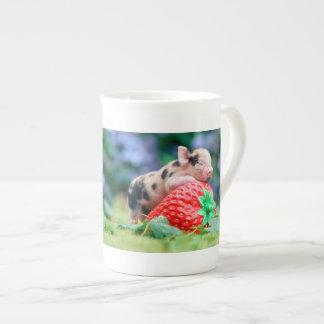 Erdbeerschwein Porzellan-Tassen