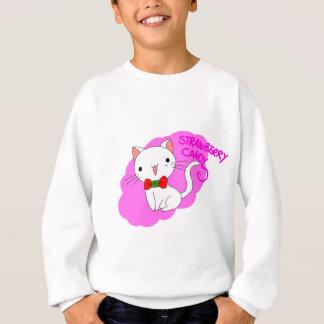 Erdbeersüßigkeits-Katze Sweatshirt