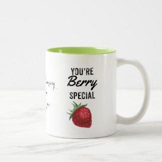 ErdbeerTasse, Valentine, Jahrestag, Mamma-Tasse, Zweifarbige Tasse