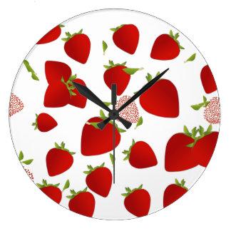 Erdbeeruhr Große Wanduhr