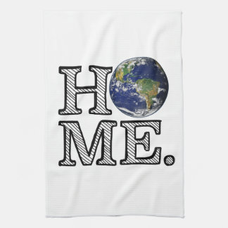 Erde ist Zuhause-Naturwissenschaftler-Haus-Wärmer Geschirrtuch