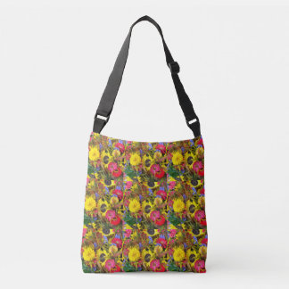 Erde lacht in Blumen Crossbody Tasche