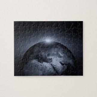 Erde mit Spezialeffekt-Puzzlen Puzzle