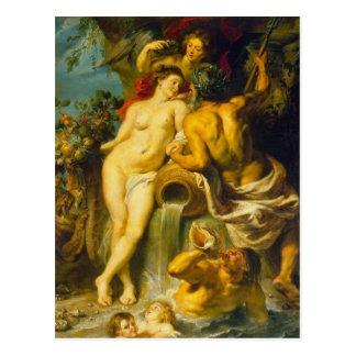 Erde u. Wasser - Rubens Postkarte