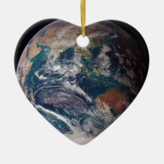 Erde vom Raum Keramik Herz-Ornament