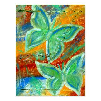 Erdige Schmetterlinge Postkarte