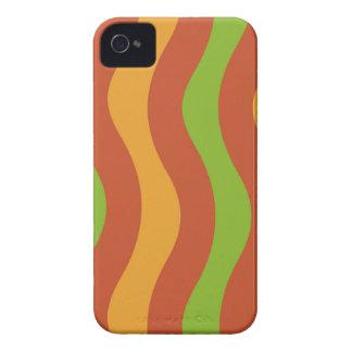 Erdige Wellen-Streifen iPhone 4 Cover