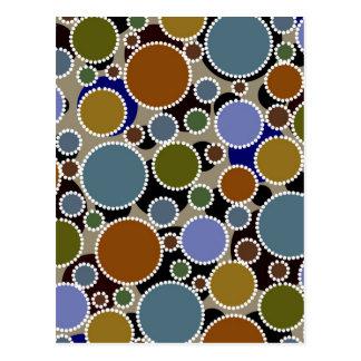 Erdiger Hintergrund der farbigen Kreise Postkarte
