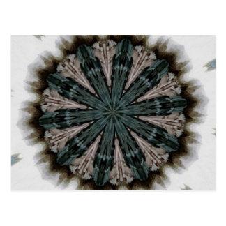 Erdiges Mandala-Kaleidoskop Postkarte