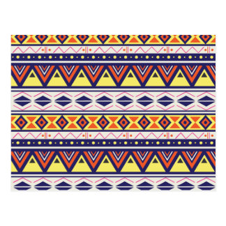 Erdiges Stammes- Grenzmuster Postkarte