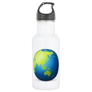 Erdkugel Asien - Emoji Trinkflasche